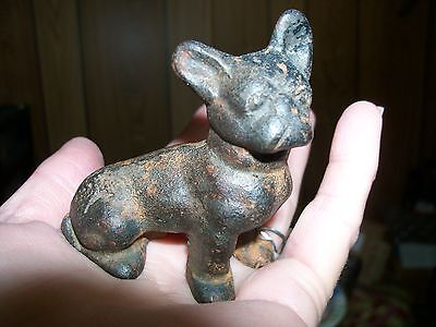ANTIQUE SOLID CAST IRON HUBLEY? FRENCH or BOSTON BULL DOG PAPER WEIGHT CUTE!