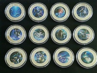 2015 Silver Clad Chinese Zodiac Coins lot of 12 complete set Collectable Art