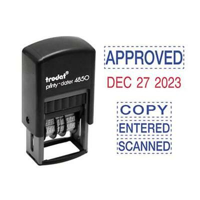 U.S. Stamp & Sign E4853L Economy 5-in-1 Micro Date Stamp, Self-inking, 3/4 X 1,