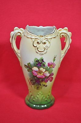 Vintage Vase Austria with Pansy/Forget me nots painted on Front