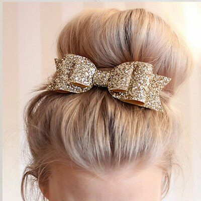 New Women Girls Hair Clips Bow Pins Barrette Bowknot Headwear Crystal Hairpins