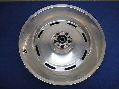 """Harley Softail Slotted Disc 17"""" X 6"""" Chrome Rear Wheel - Fits 06 And Up"""