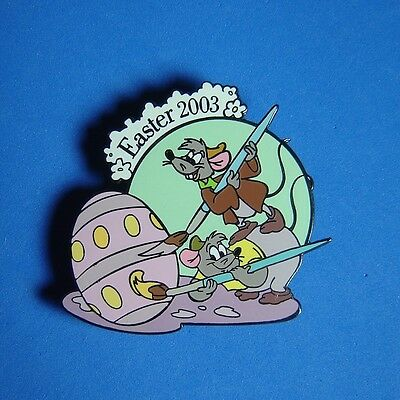 Black Prototype Cinderella Gus and Jaq Easter Disney Auction Pin RARE