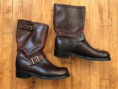 Vintage 60's 70's Engineer Boots Brown Leather Durango Wearmaster Motorcycle 10