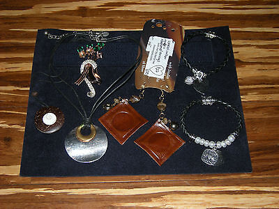 Scrap Sterling .925 Silver Lot  &  Junk Drawer Costume Jewelry Chico's Upcycled