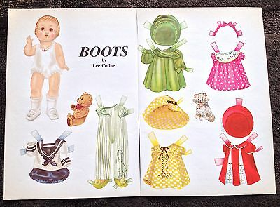 Boots Doll Paper Doll Uncut, By Lee Collins, Doll Reader Mag.