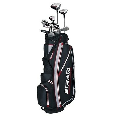 Callaway Strata Mens Right Hand Golf Clubs Package Set with Bag - Graphite/Steel