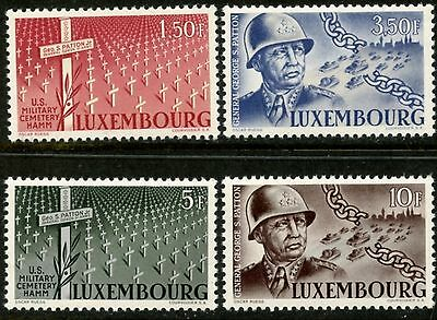 LUXEMBOURG Sc#242-245 1947 General Patton Complete Set Mint OG NH