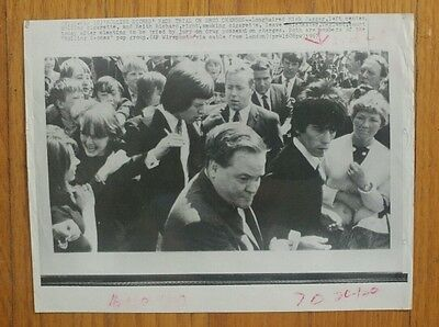 Vintage Wire Photo Mick Jagger Keith Richards Drug Trial 1967 Rolling Stones