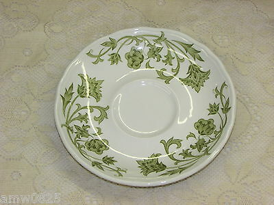 RETRO J.&G. MEAKIN WINDSONG SAUCER GREEN IRONSTONE no cup REPLACEMENT CHINA