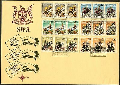 SOUTH WEST AFRICA Sc#423-428 1978 Suffrage Complete Set on Cacheted FDC