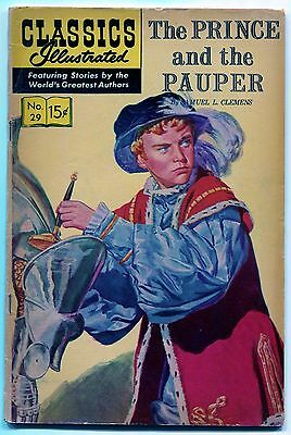 Classics Illustrated #29 (VG/F) The Prince and the Pauper, HRN 167, July 1946