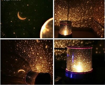 Kids Love glow in the dark Star Night Light Lamp Projector space solar system