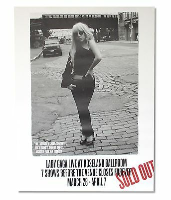 Lady Gaga Roseland Ballroom Final Shows Photo Tour Poster