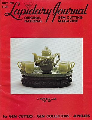Lapidary Journal November 1981 - for Gem Cutters, Gem Collectors, Jewelers