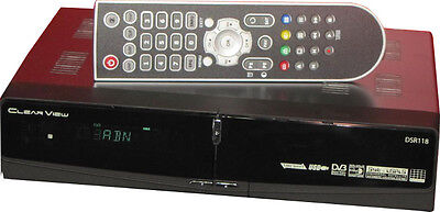 NEW ClearView DSR118 Digital FTA Satellite Receiver MPEG2 and PVR via USB