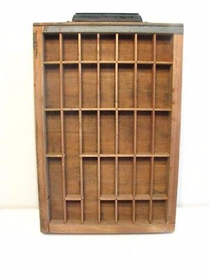 Vintage Wood Printers Drawer Tray , Hamilton Letterpress