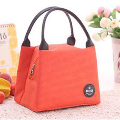 Thermal Insulated Cooler Lunch Picnic Carry Tote Storage Organizer Bag Orange