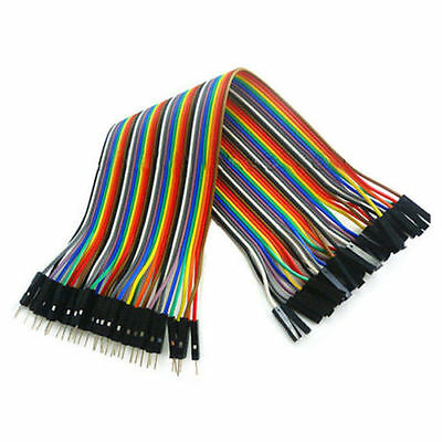 40Pcs 20cm Colors Male to Female Dupont Wire Jumper Cable for Arduino Breadboard