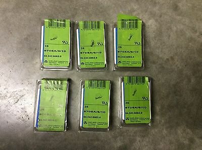 Wieland 04.242.6053.0 9705A/6/10 Terminal Block Marker Strip Lot Of 6