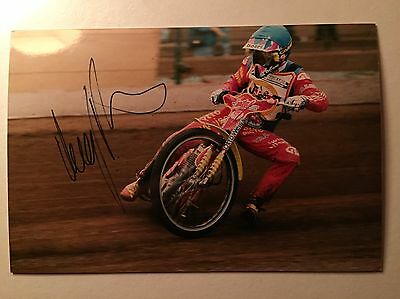 Leigh Agams Signed Speedway Photo