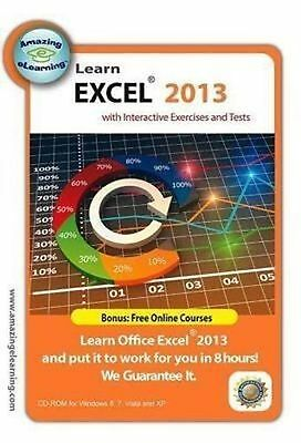 Learn Microsoft Excel 2013 Interactive Training CD Course - NEW - FREE SHIPPING