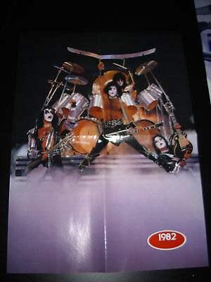 Kiss-Magazine Pull Out Poster #6- 4 Panel .cool Vintage Shots.