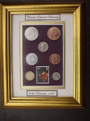 PERSONALISED FRAMED 1967 COIN SET 50th BIRTHDAY GIFT IN 2017