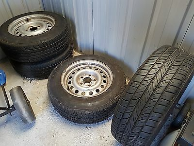 Standard Wheels and Tyres Off Commodore Sedan