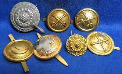 Indian Wars Army Cavalry, Cook, Medical Corps Shako Buttons Lot Of 7