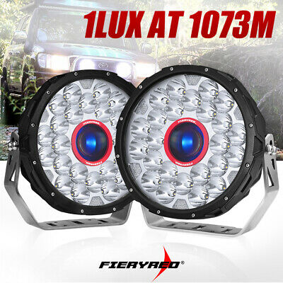 2x 9 inch CREE LED SPOT Driving Lights Offroad 4X4 Round Spotlights Black 12V24V