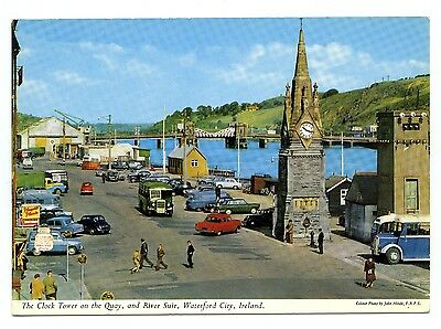 'The Clock Tower on the Quay, Waterford City, Ireland' vintage postcard