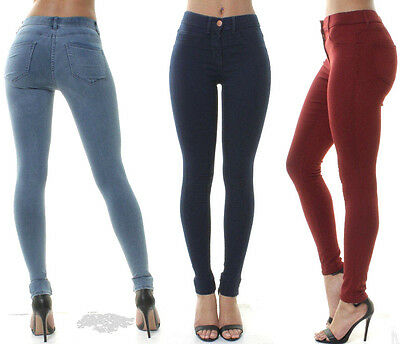 Ex George Womens Denim HIGH WAISTED SKINNY JEANS JEGGINGS PANTs 10 12 14 16 18