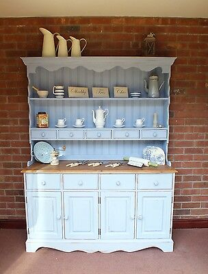 Large Country Farmhouse Dresser Solid Wood Shabby Chic Loads of Kitchen Storage