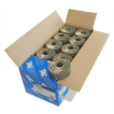 Tacwise 0495 2.1 x 50mm Galvanised Ring Flat Coil Nails (14,400 Per Box)