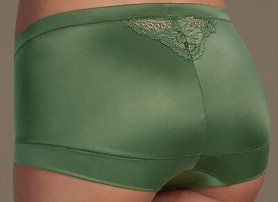 Ladies Soft Shiny Knickers Shorts Added Stretch High Rise Size 16 BNWT M&S