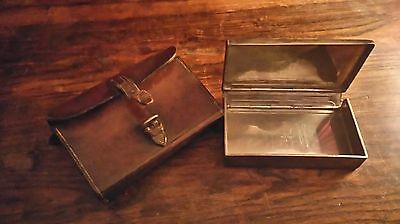 James Dixon And Sons Hunting  Sandwich Box And Leather Case.