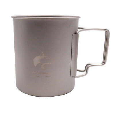 Boundless Voyage Ultralight Titanium Cup with Handle Camping Picnic Cup Ti1542B