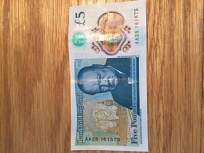 AA25 New £5 Note Bank of England