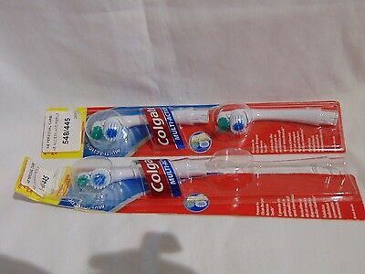 Collgate Multi Action Brush Heads for Electric Toothbrush.  Three Unused Heads