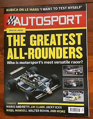 AUTOSPORT Magazine - 9/2/17 - Great All Rounders Special + Much more! (Used)