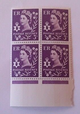 GB REGIONAL ISSUE N. IRELAND USED WILDING STAMP - 3d - DEFINITIVE mnh