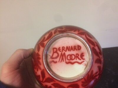 Bernard Moore 2 pieces - Flambe ruby lustre bowl (Amico Amicus) and pill box