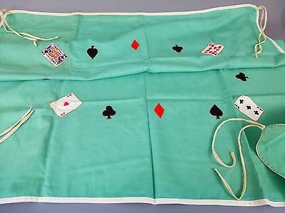 Excellent Vintage Embroidered/needlepoint Card Gaming Games Table Cover Cloth