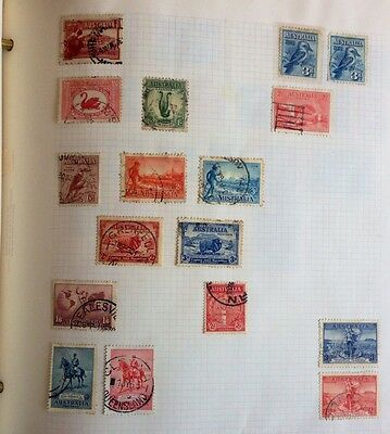 Australia Stamps Mounded On A Page 2