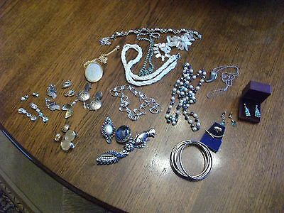 Lovely Huge Job Lot of Vintage 1920s-70s COSTUME JEWELLERY CONTENTS OF OLD BOX