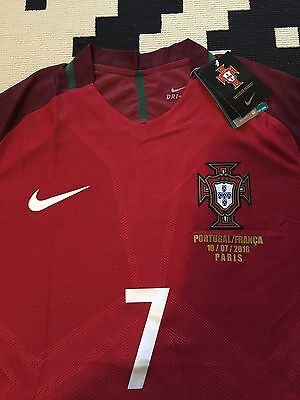 Maillot Portugal Ronaldo Finale Euro Neuf Player Version Taille S Ou M