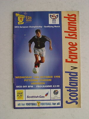 Scotland v Faroe Islands 1998 European Championship at Aberdeen
