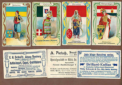 FLAG GIRLS, CRESTS: Collection of RARE Victorian Trade Cards (1900)h