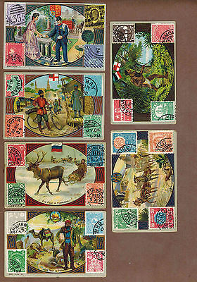 STAMPS, POST: Collection of RARE Victorian Trade Cards (1900)g